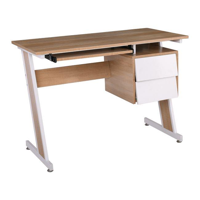 """Γραφείο """"UNIT"""" από μέταλλο/ξύλο σε χρώμα λευκό με σονόμα 105x54x76"""