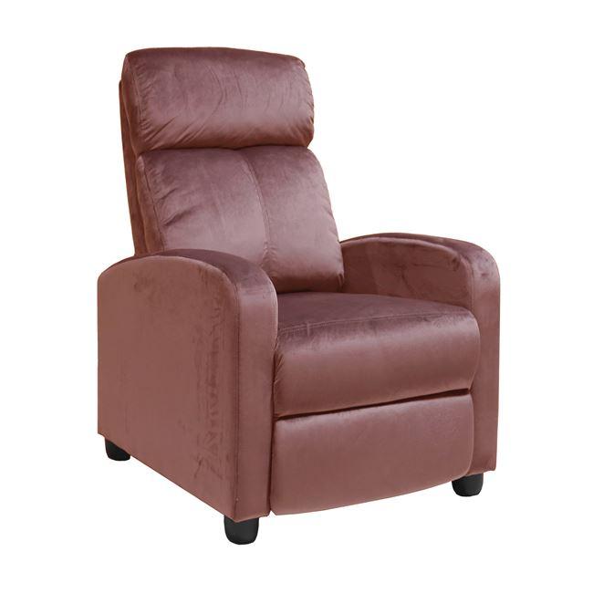 """Πολυθρόνα """"PORTER"""" από ύφασμα σε χρώμα καφέ/σάπιο μήλο 68x86x99"""