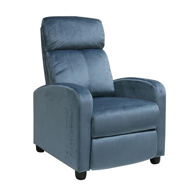 """Πολυθρόνα """"PORTER"""" από ύφασμα σε χρώμα μπλε 68x86x99"""