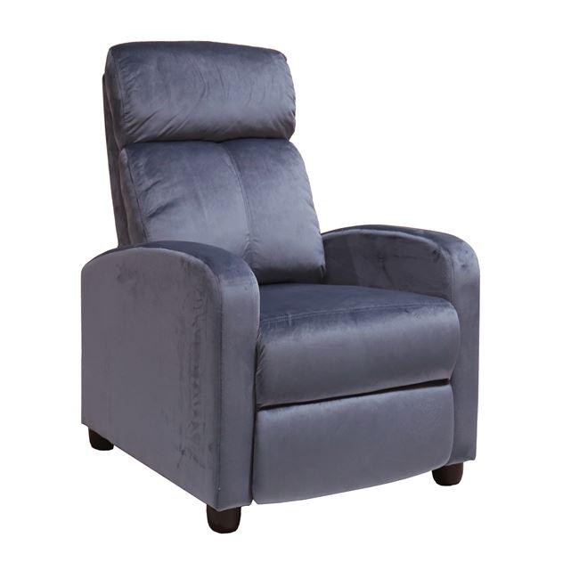 """Πολυθρόνα """"PORTER"""" από ύφασμα σε χρώμα γκρι 68x86x99"""