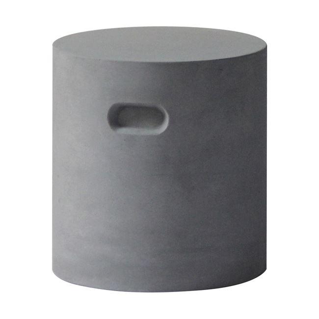 """Σκαμπώ """"CONCRETE CYLINDER"""" από τσιμέντο σε γκρι χρώμα 37×40"""