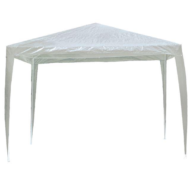 """Κιόσκι """"GAZEBO"""" 3×3 πτυσσόμενο από μεταλλικό σκελετό με ύφασμα σε λευκό χρώμα"""
