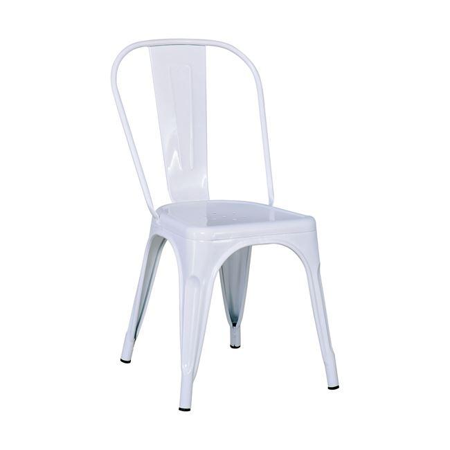 """Καρέκλα """"RELIX"""" από μέταλλο σε χρώμα λευκό 44x49x84"""