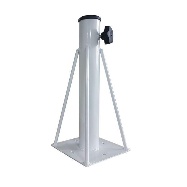 Βάση ομπρέλας εδάφους μεταλλική σε λευκό χρώμα 16,5×16.5×36