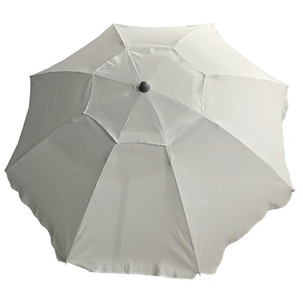 Ομπρέλα θαλάσσης από μέταλλο/ύφασμα σε χρώμα εκρού Φ2