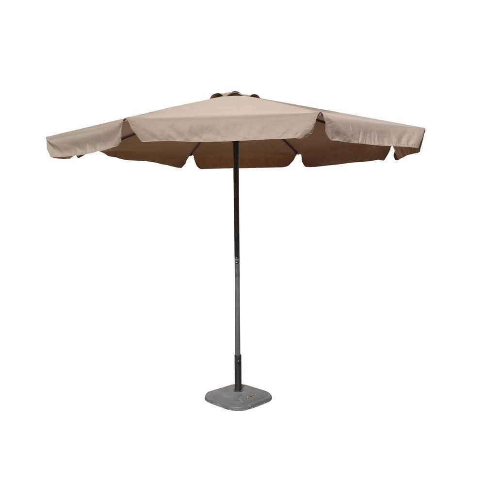 Ομπρέλα κήπου από αλουμίνιο/ύφασμα σε χρώμα μπεζ άμμου Φ3