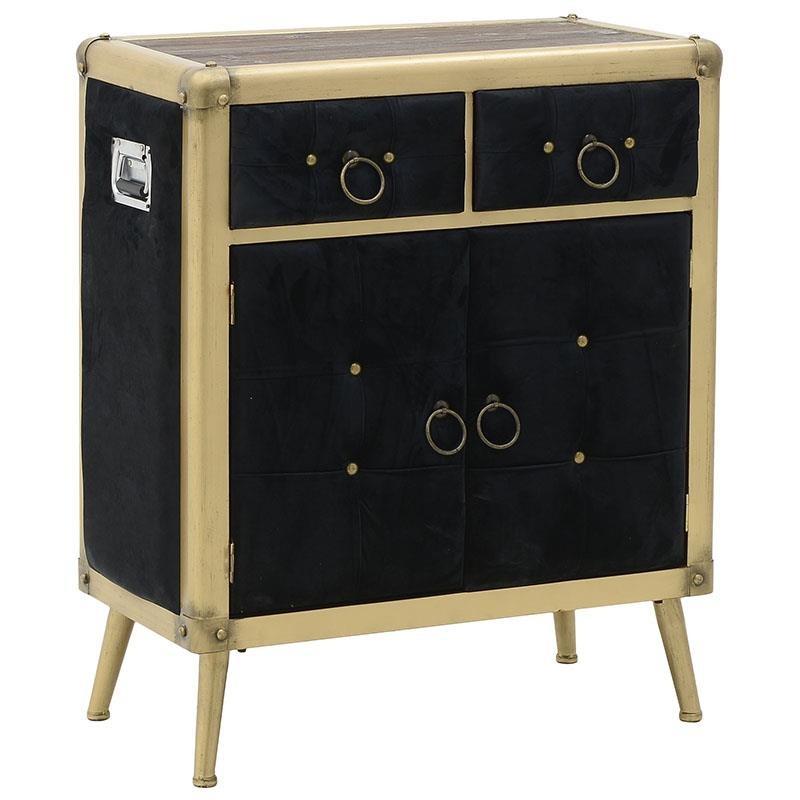 """Συρταριέρα """"INART"""" από μέταλλο σε χρώμα χρυσό/μαύρο 79x41x91"""