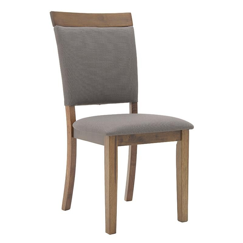 Καρέκλα τραπεζαρίας ξύλινη-υφασμάτινη σε καφέ χρώμα 50x56x96