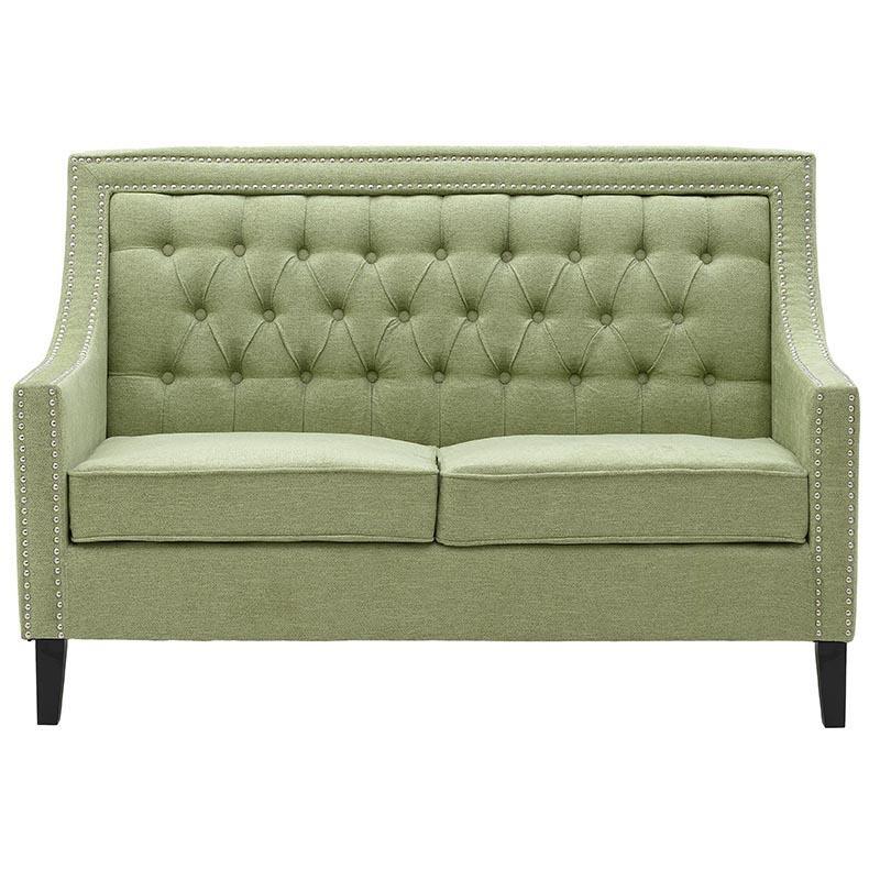 Καναπές διθέσιος από ύφασμα σε πράσινο χρώμα 140x82x92