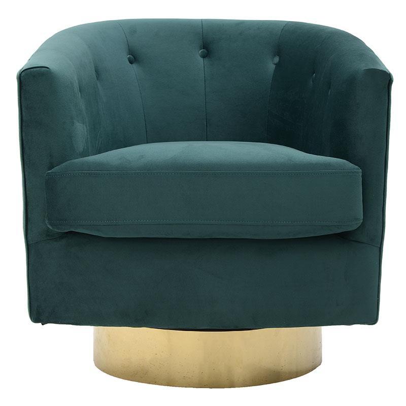 Πολυθρόνα βελούδινη σε πράσινο χρώμα 76x79x76