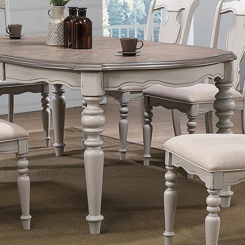 Τραπέζι επεκτεινόμενο ξύλινο σε γκρι-μπεζ χρώμα 102x152x76