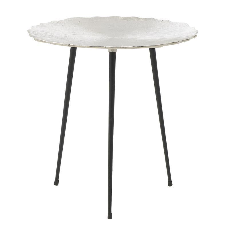 Τραπέζι βοηθητικό από αλουμίνιο σε ασημί χρώμα 55x55x56