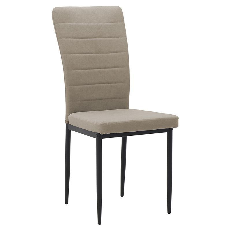 Καρέκλα τραπεζαρίας υφασμάτινη σε μπεζ χρώμα 58x42x95