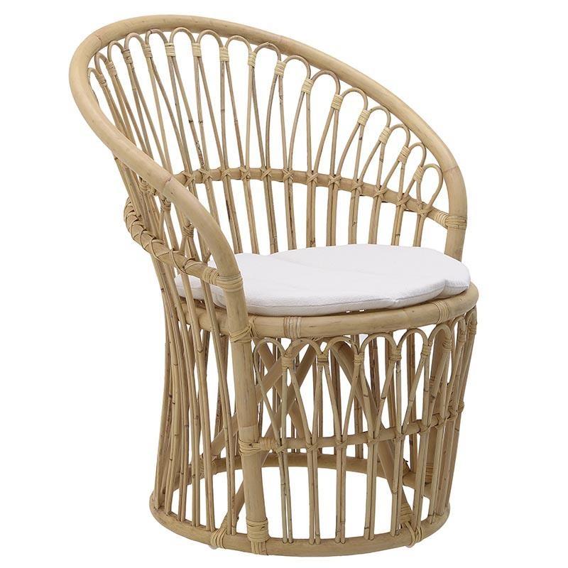 Πολυθρόνα από μπαμπού σε φυσικό χρώμα 69x65x82