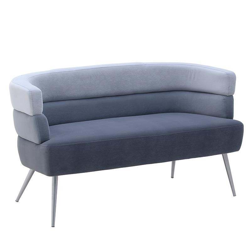 Καναπές διθέσιος βελούδινος σε γκρι χρώμα 125x64x74