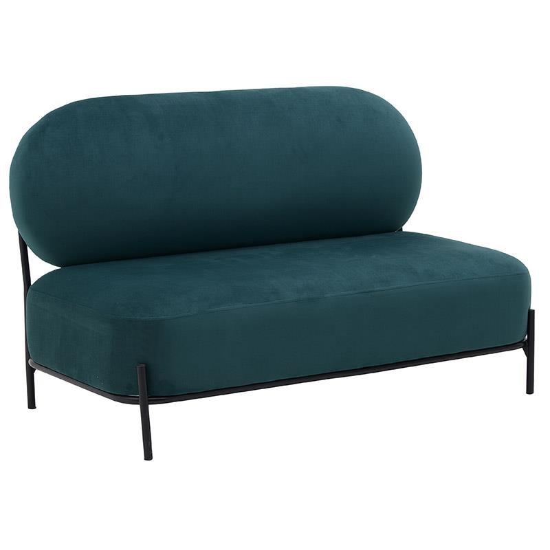 Καναπές διθέσιος βελούδινος σε πράσινο χρώμα 120x67x74