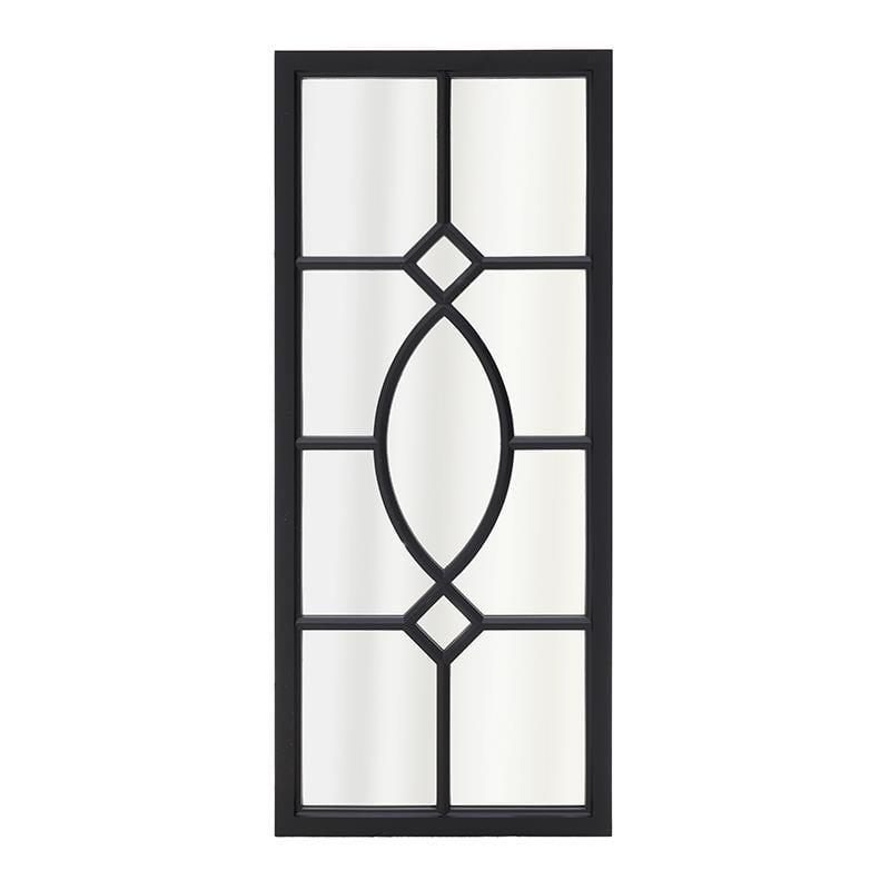 Καθρέπτης τοίχου από πλαστικό σε μαύρο χρώμα 33×2,5×75,5