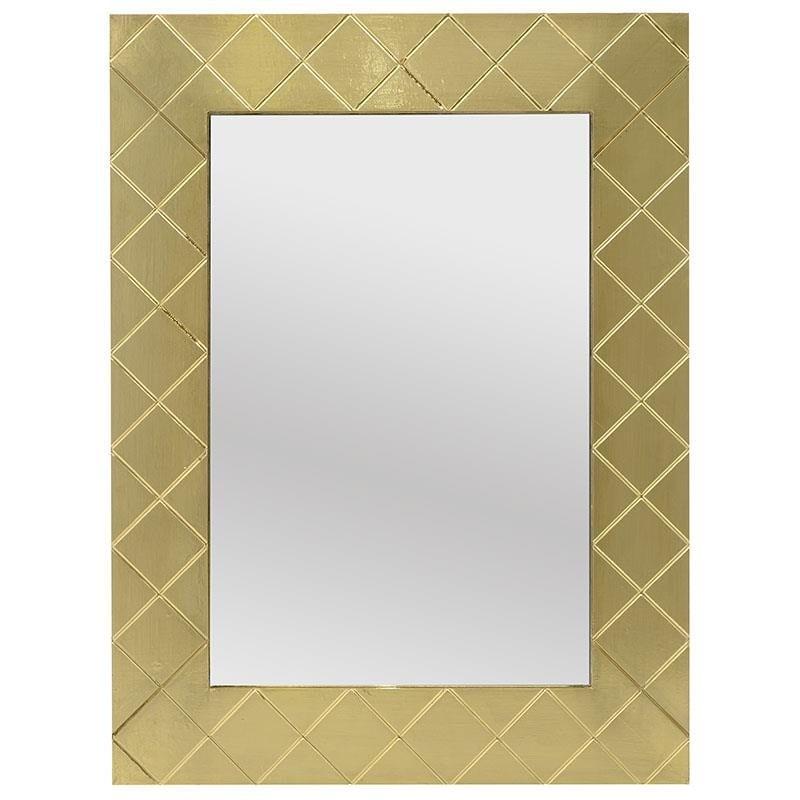 Καθρέπτης τοίχου ξύλινος σε χρυσό χρώμα 60×2,5×80