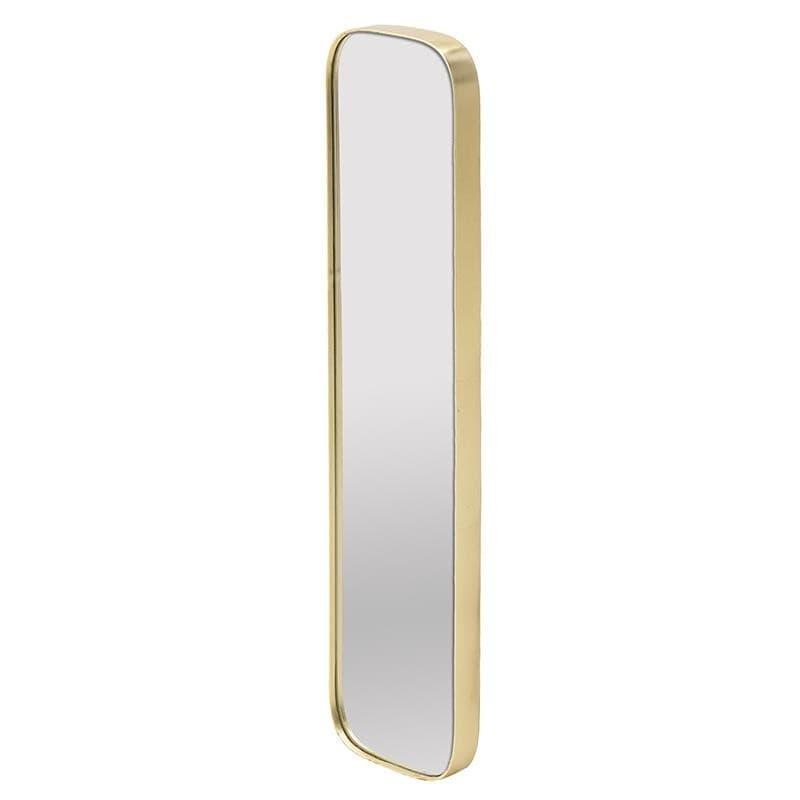 Καθρέπτης τοίχου ξύλινος σε χρυσό χρώμα 21x4x101