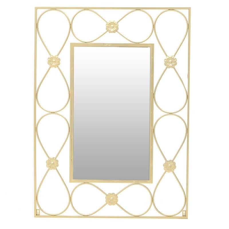 """Καθρέπτης τοίχου """"ΑΠΕΙΡΟ"""" μεταλλικός σε χρυσό χρώμα 72x1x98"""