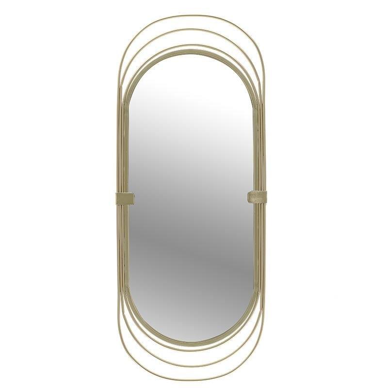 Καθρέπτης τοίχου μεταλλικός σε χρυσό χρώμα 40x10x95