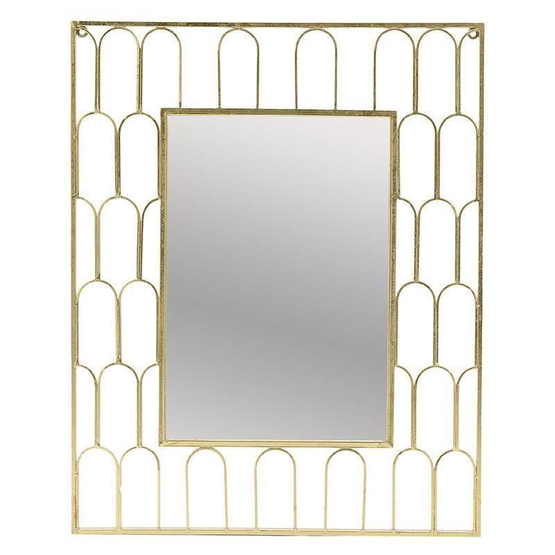 Καθρέπτης τοίχου μεταλλικός σε χρυσό χρώμα 72x2x90