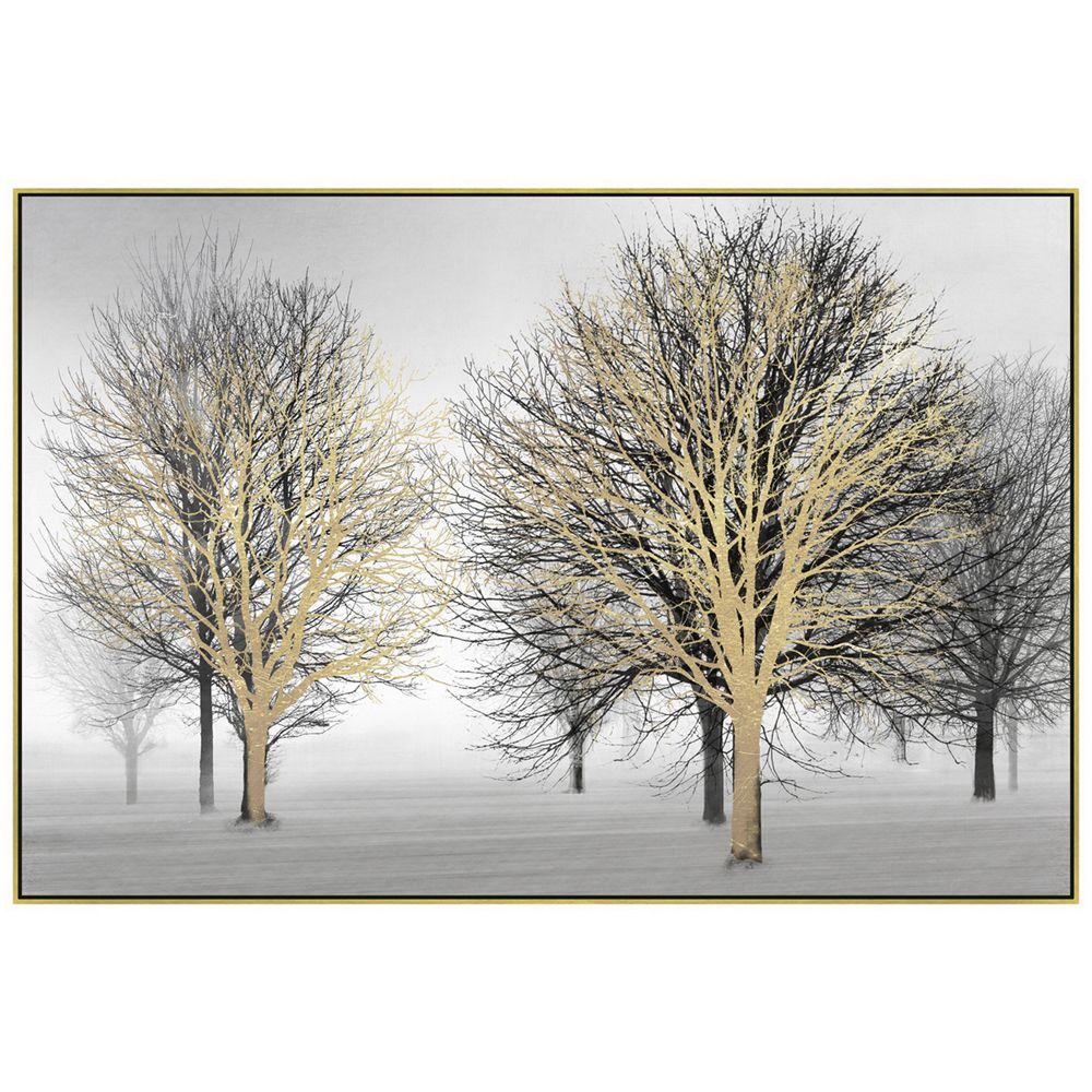 Πίνακας με δέντρα σε χρυσή κορνίζα 122x82