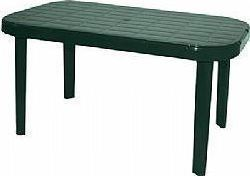 Τραπέζι «ΜΥΚΟΝΟΣ» ορθογώνιο από πλαστικό σε χρώμα πράσινο 140x85x75