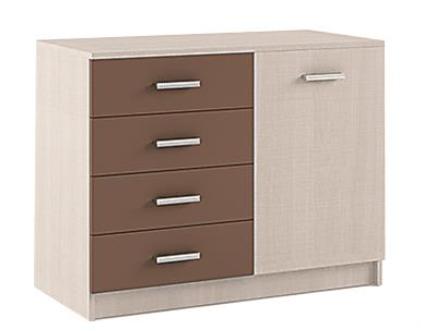 """Συρταριέρα-ντουλάπι """"CROSS"""" σε χρώμα latte/moka 95x47x75"""