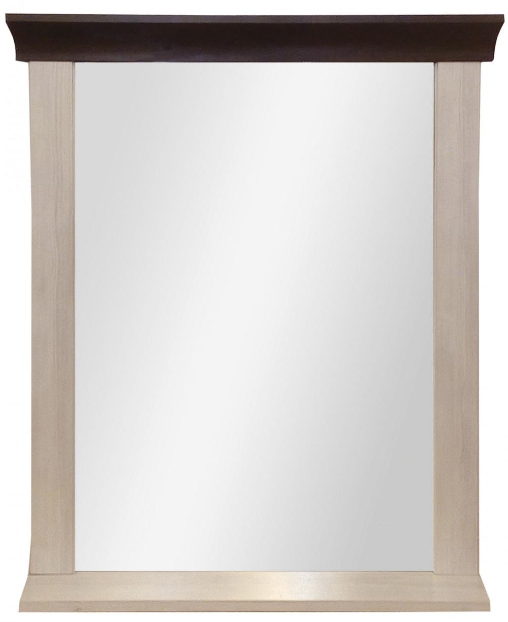 """Καθρέφτης """"LAVENDA"""" σε χρώμα νορβηγικό λευκό-δρυς καρυδιά 69x14x87"""