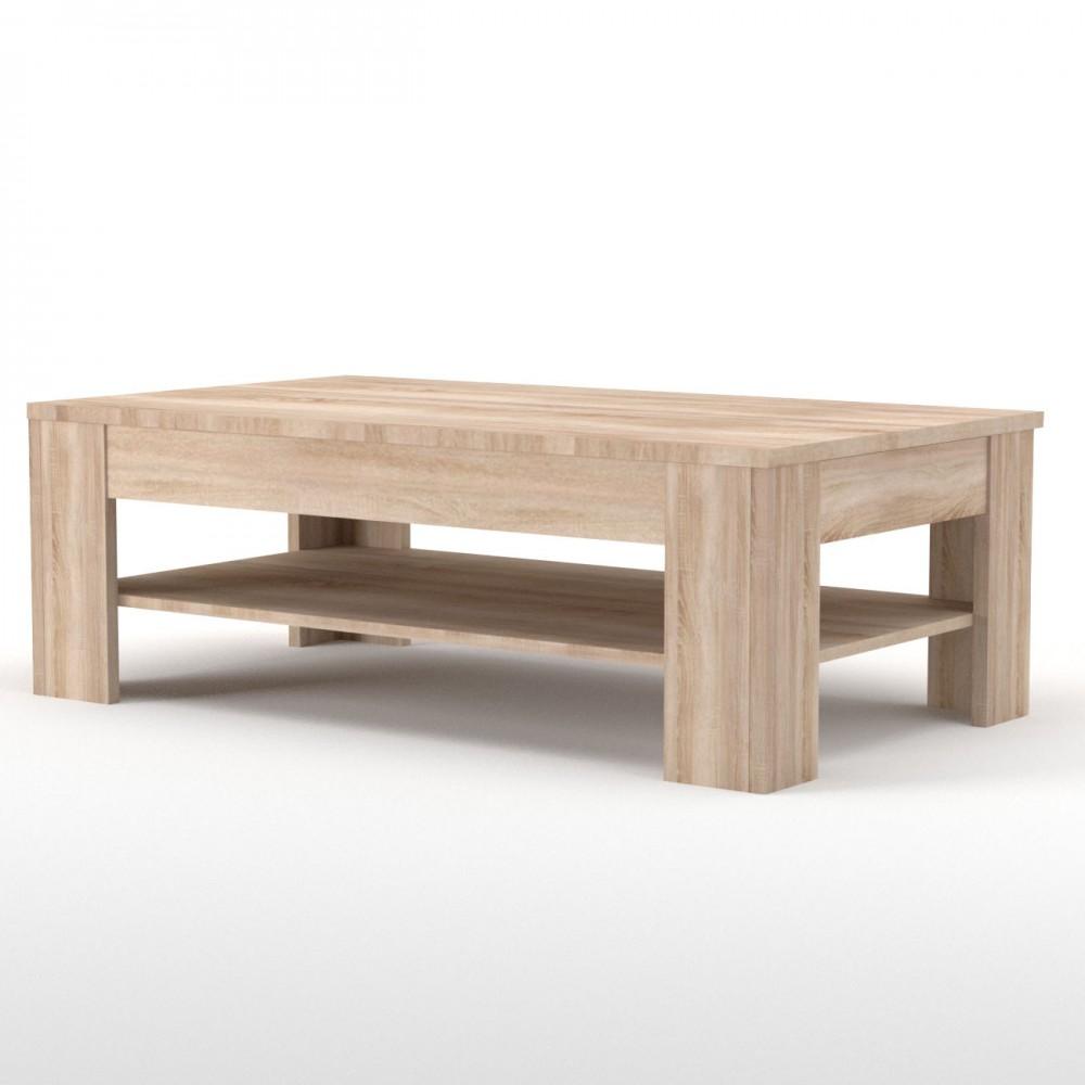 """Τραπέζι σαλονιού """"SOLO"""" σε χρώμα σονόμα-δρυς 120x69,50x44"""