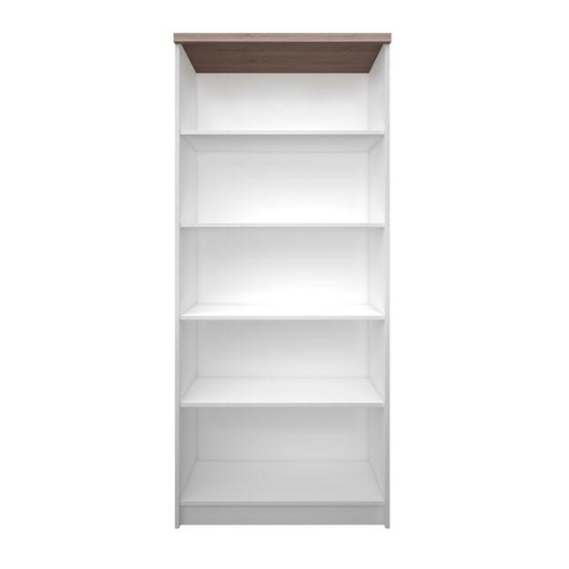 """Βιβλιοθήκη """"TOP MIX"""" σε λευκό-σονόμα χρώμα 80x33x183"""