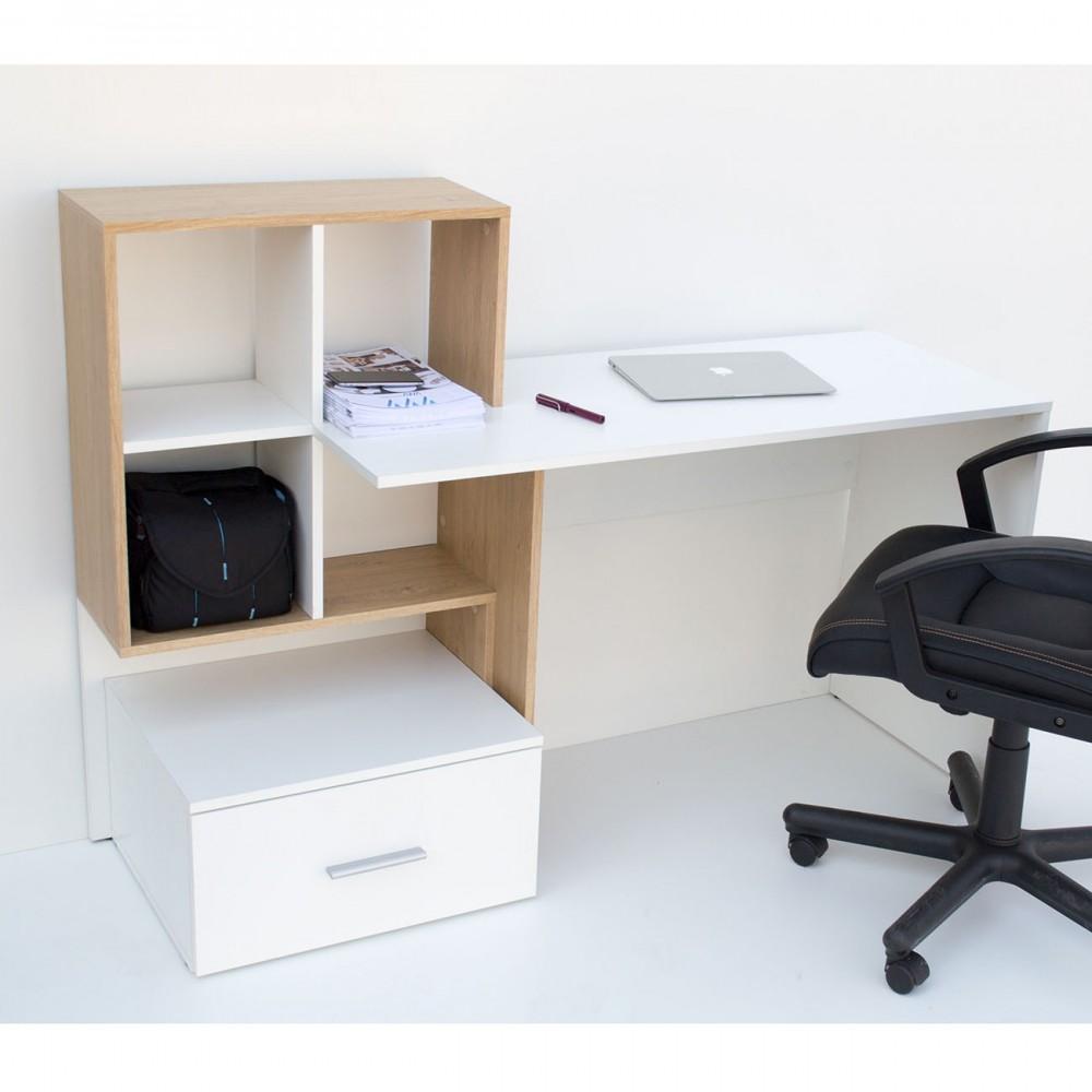 Γραφείο σε λευκό-φυσικό χρώμα 149x50x105