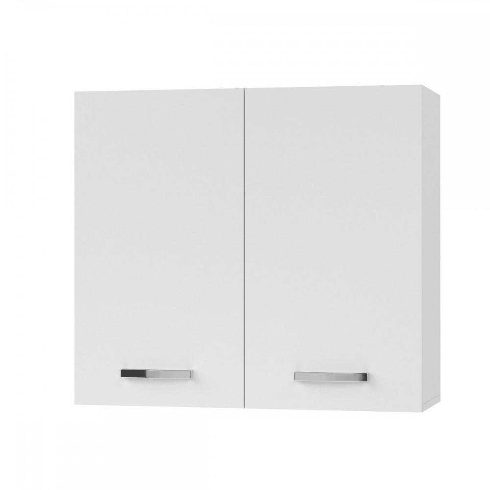 """Πάνω ντουλάπι κουζίνας """"CHARLOTΤE"""" σε χρώμα λευκό 80×30.5×71.8"""