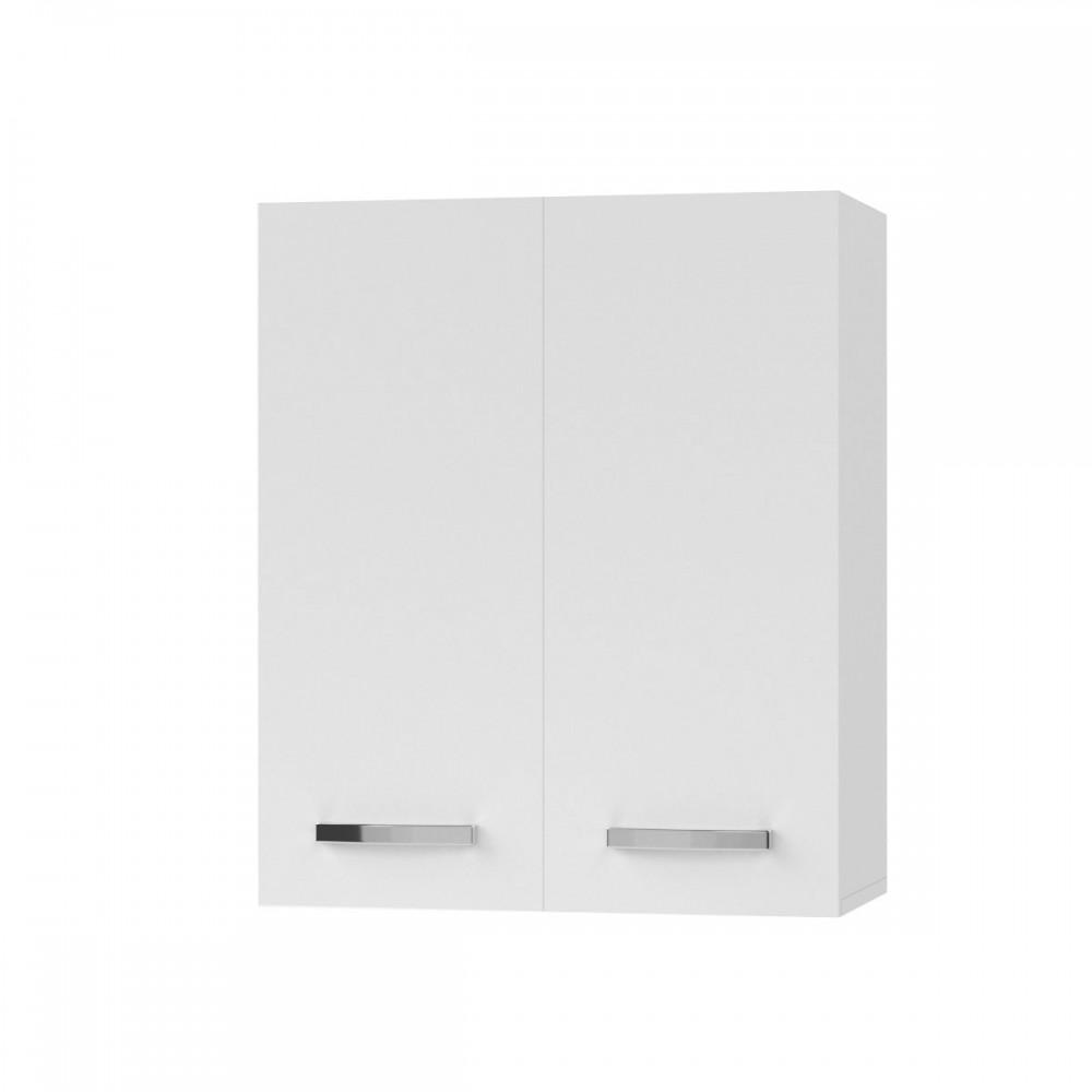"""Πάνω ντουλάπι κουζίνας """"CHARLOTΤE"""" σε χρώμα λευκό 60×30,5×71,8"""