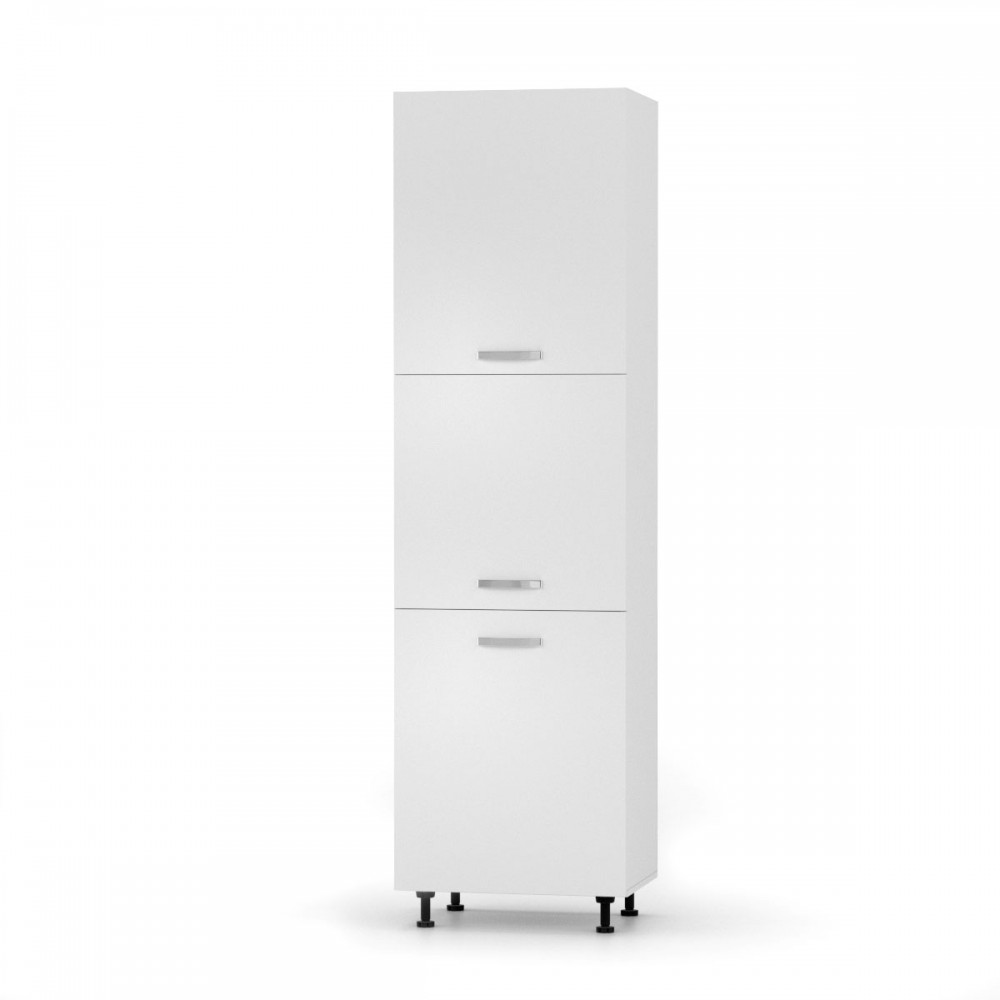 """Στήλη ντουλάπι κουζίνας """"CHARLOTΤE"""" σε χρώμα λευκό 60x56x213.4"""