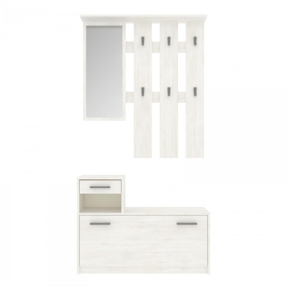 """Σετ εισόδου """"LUNA"""" σε χρώμα λευκό 100x28x215"""