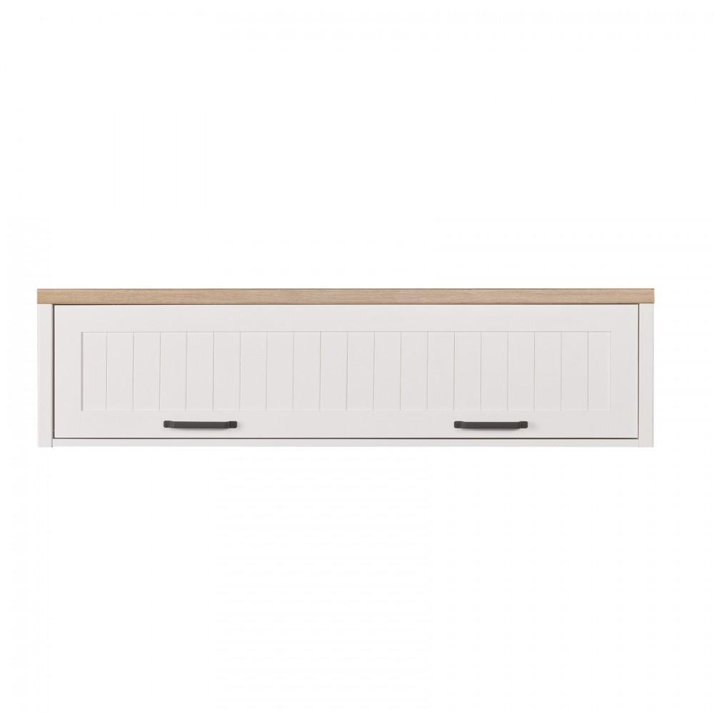 """Ράφι κρεμαστό """"VERNE"""" σε χρώμα λευκό-φυσικό δρυς 137.9x30x35"""