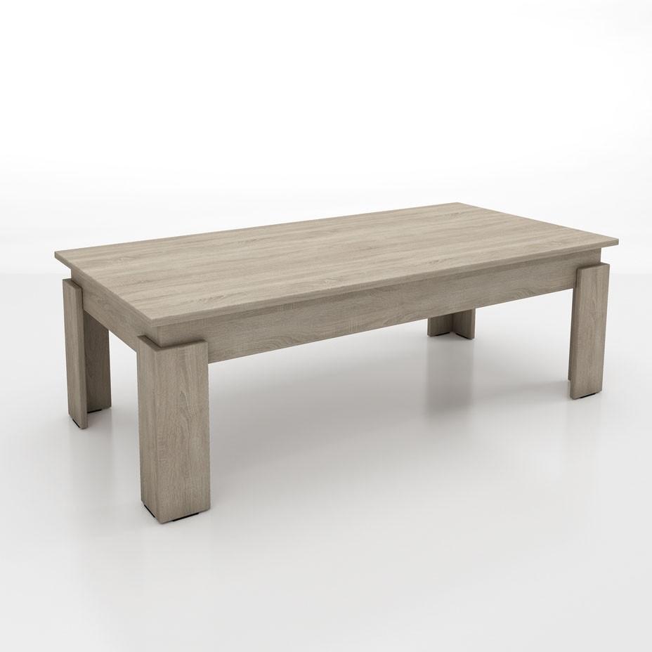 """Τραπέζι σαλονιού """"CITY"""" σε χρώμα σονόμα 120x60x40"""