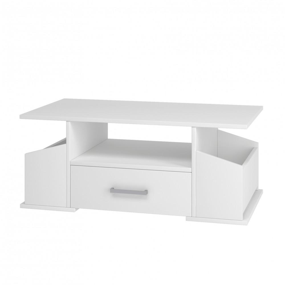 """Τραπέζι σαλονιού """"JUNATA"""" σε χρώμα λευκό 110x58x44"""