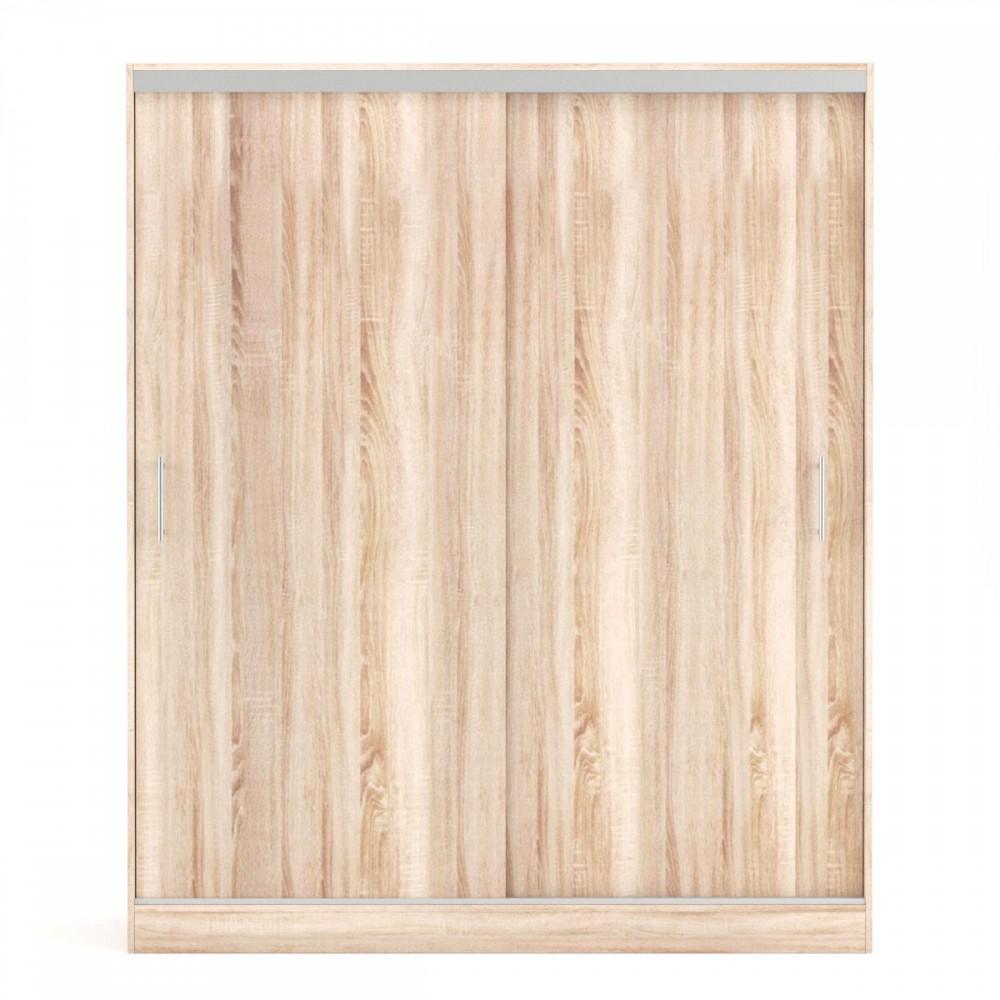 """Ντουλάπα """"MONALISA"""" δίφυλλη με συρόμενες πόρτες σε χρώμα σονόμα 180x60x215"""