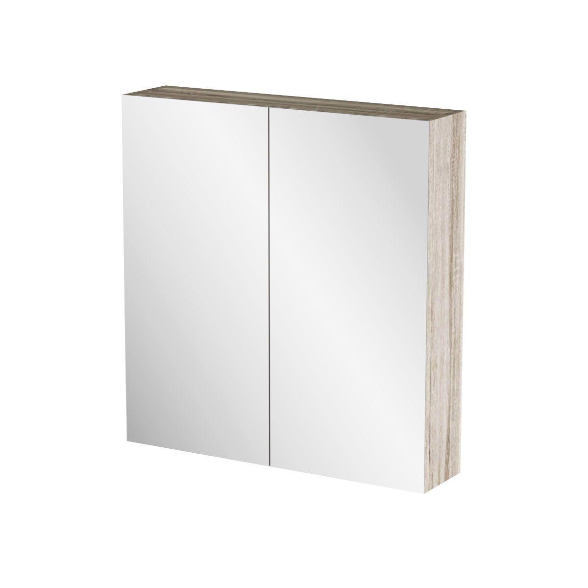 """Καθρέπτης μπάνιου """"ODELIA"""" σε sonoma χρώμα 62x14x65"""