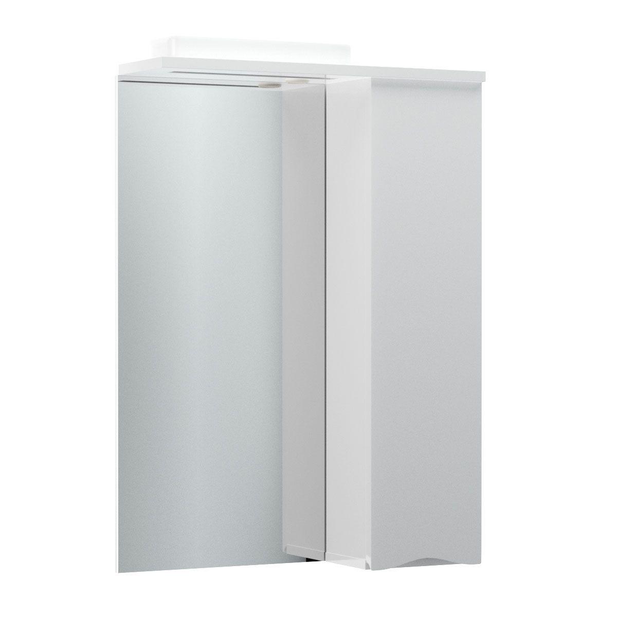"""Καθρέπτης μπάνιου """"SMILE"""" με led φωτισμό σε λευκό χρώμα 60x17x87"""