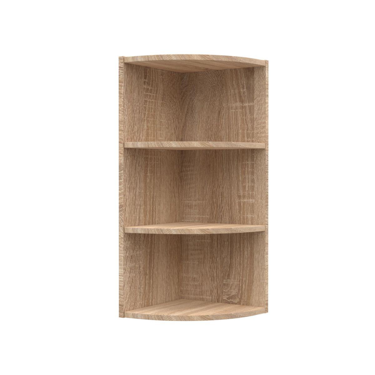 """Γωνιακό πάνω ντουλάπι κουζίνας """"ALINA"""" σε χρώμα σονόμα-μόκα 28,5x28,5x71,8"""