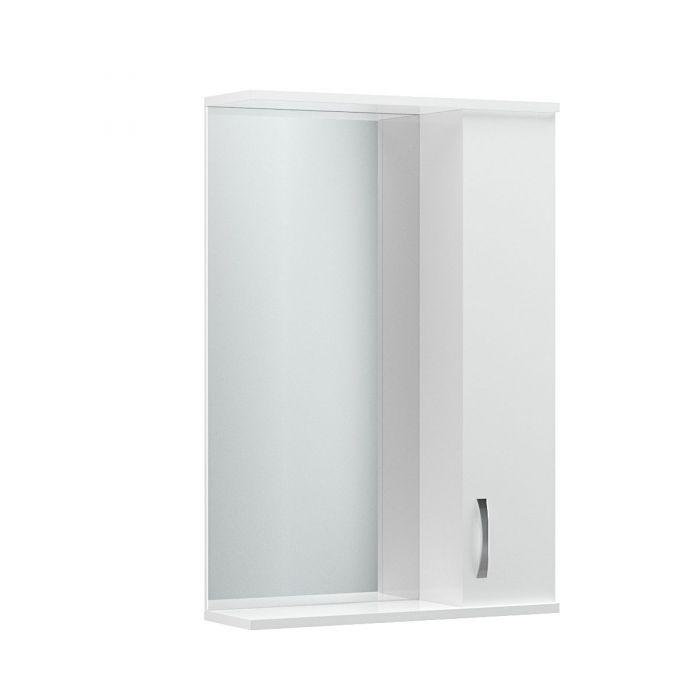Καθρέπτης μπάνιου με ράφι σε λευκό χρώμα 56x17x83