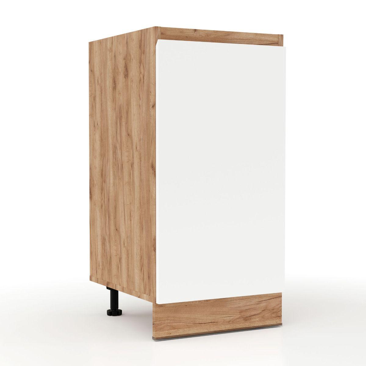 """Ντουλάπι κουζίνας """"SOFT"""" σε λευκό-φυσικό χρώμα 40x47x82"""