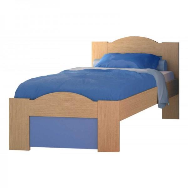 """Παιδικό κρεβάτι """"ΚΥΜΑ"""" ημίδιπλο σε χρώμα δρυς-σιελ 110x190"""