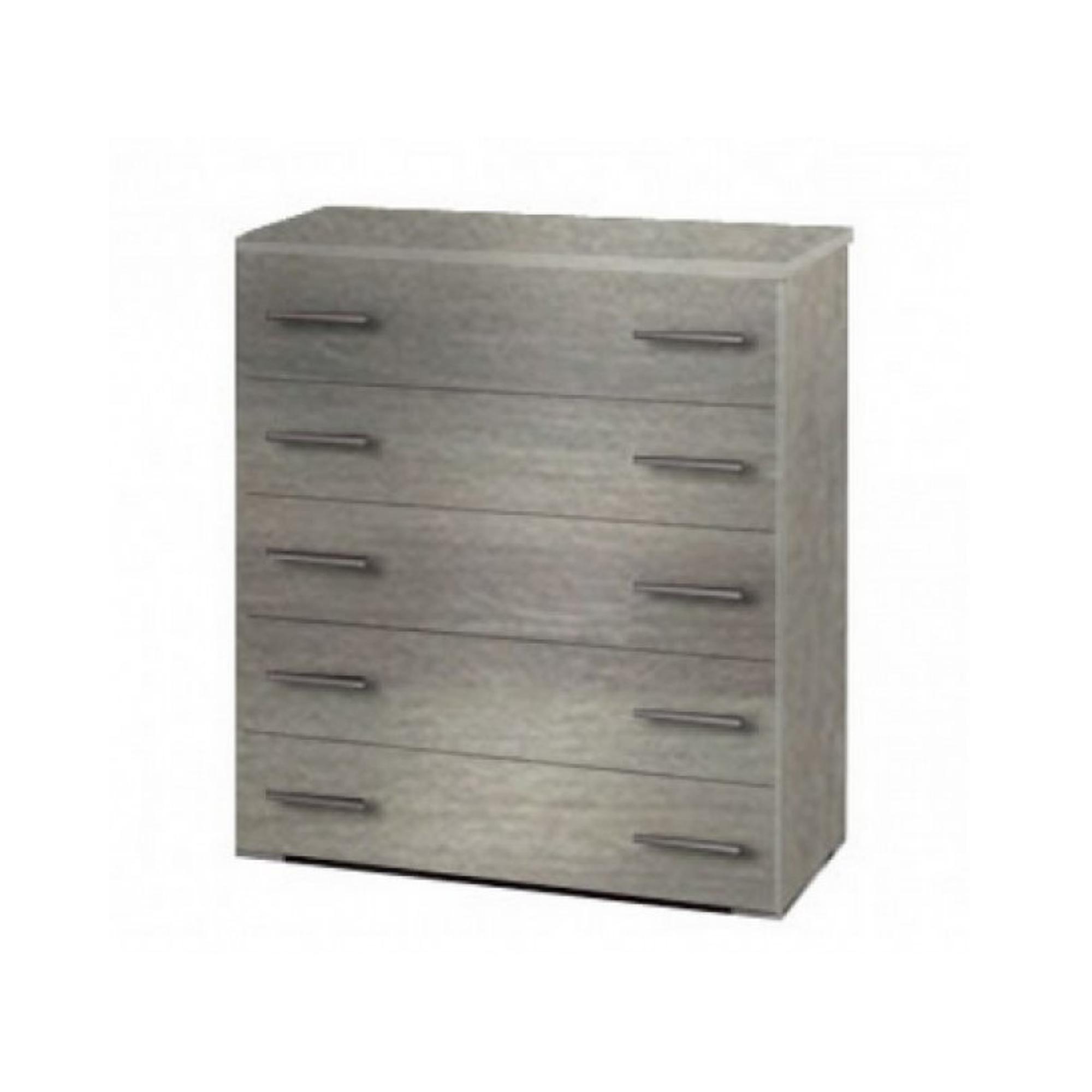 Συρταριέρα με 5 συρτάρια σε χρώμα σταχτί 80x45x90
