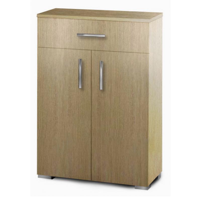 Παπουτσοθήκη-ντουλάπι με ράφια σε χρώμα δρυς 60x33x92