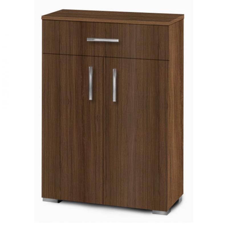 Παπουτσοθήκη-ντουλάπι με ράφια σε χρώμα καρυδί 60x33x92